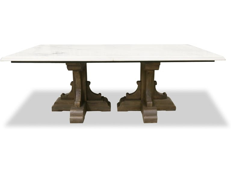 LUCA 96 MARBLE DINING TABLE