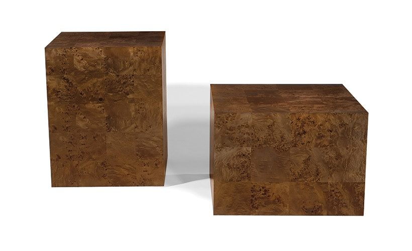 Featured Product MAPA BURL CUBE END TABLE TYC124271 From Walter E. Smithe  Furniture + Design