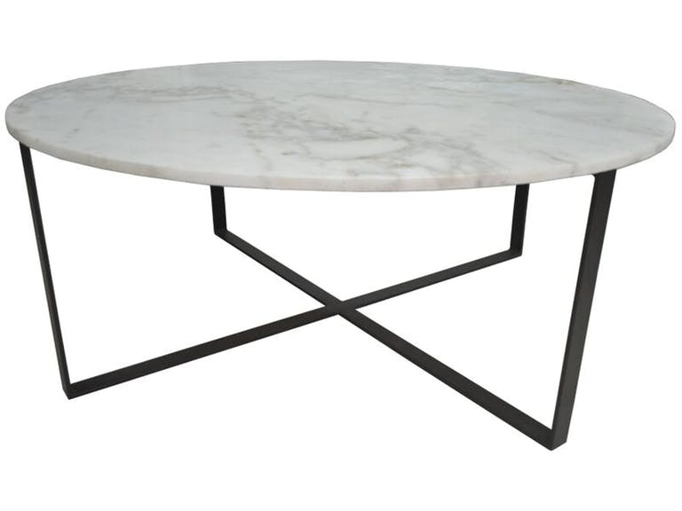 Stock Program Marlow Round Marble Cocktail BNGOV001ST From Walter E. Smithe  Furniture + Design