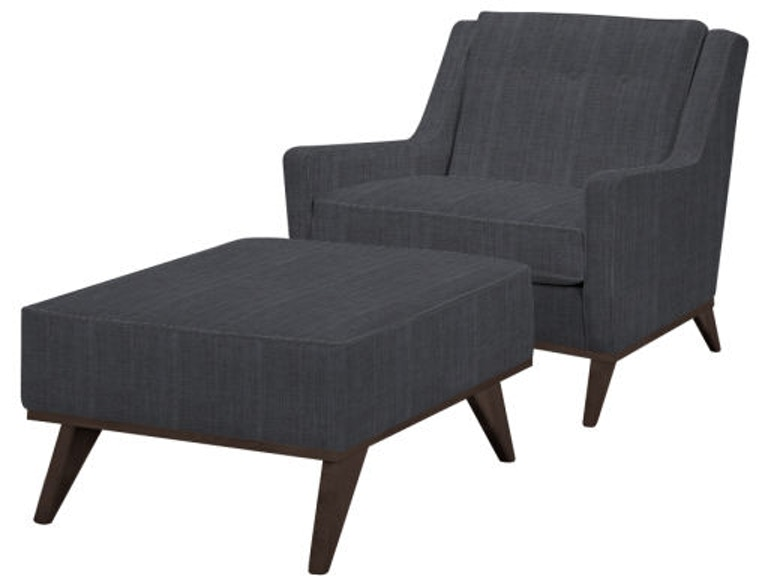 Excellent Clearance Home Accents Ana Chair And Ottoman Nr9030 Clr Walter E Smithe Furniture Design Ibusinesslaw Wood Chair Design Ideas Ibusinesslaworg