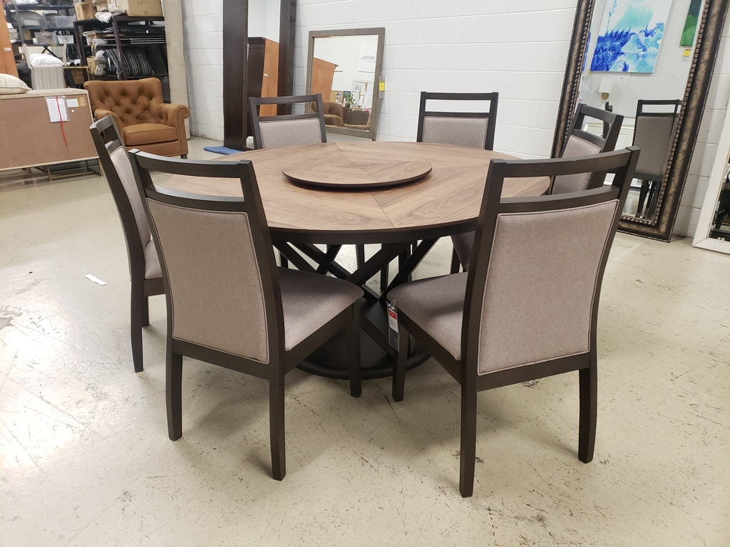 7 Piece Carolina Dining Set Nv166es60tblst Nv166escglst Clr