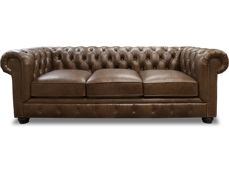 Carlton Brown Leather Chesterfield Sofa