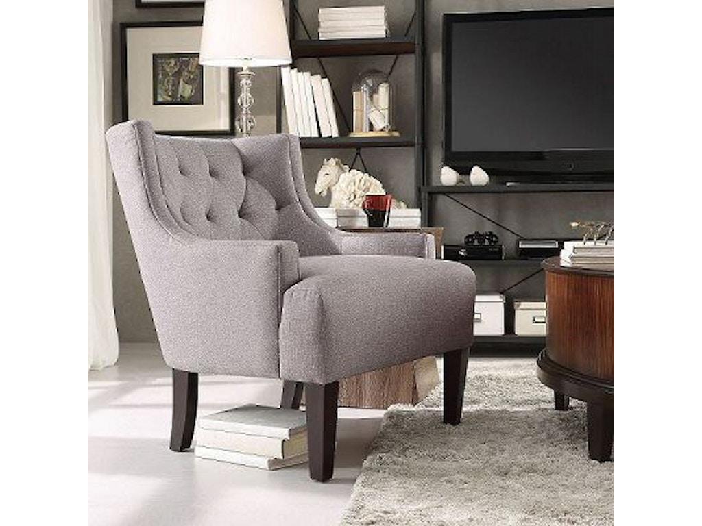 Swell Grey Linen Accent Chair Machost Co Dining Chair Design Ideas Machostcouk