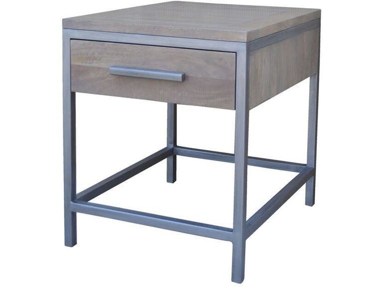 Parsons End Table Grey Wash BNG255GWST At Walter E. Smithe Furniture And  Design