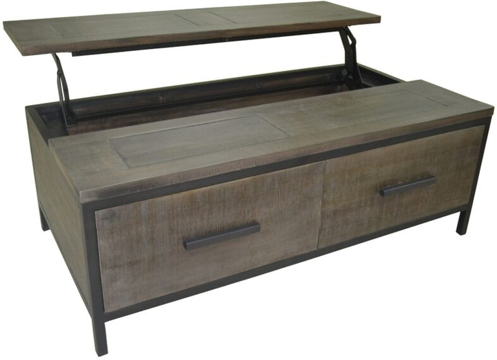 Stock Program Parsons Lift Top Cocktail Antique Grey BNG25AGST From Walter E Smithe Furniture