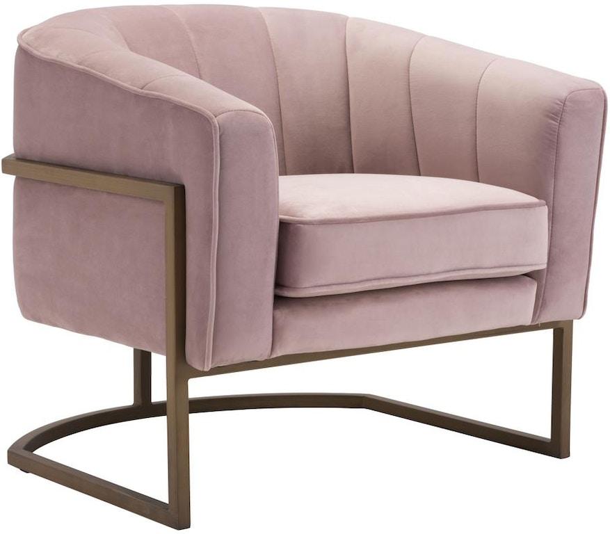 . Lyric Occasional Chair Pink Velvet