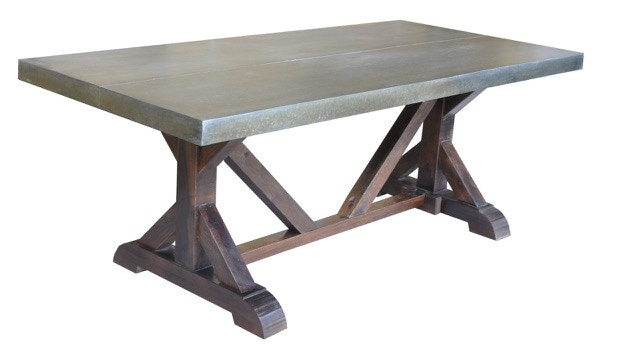 Rigby Zinc Top Dining Table