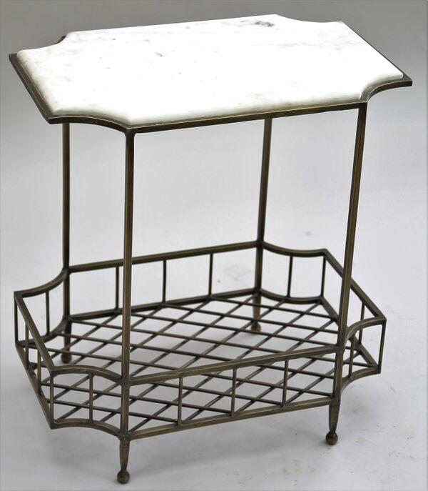 Stock Program Riley Iron U0026 Marble Side Table IRNQM14947ST