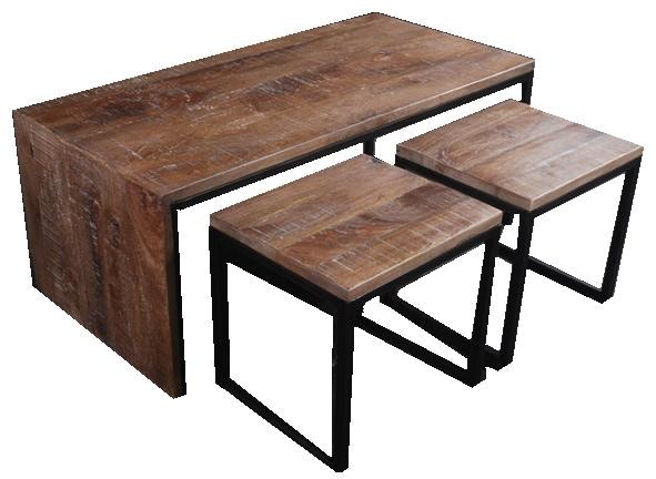 Dunhill Cocktail Table With 2 Stools