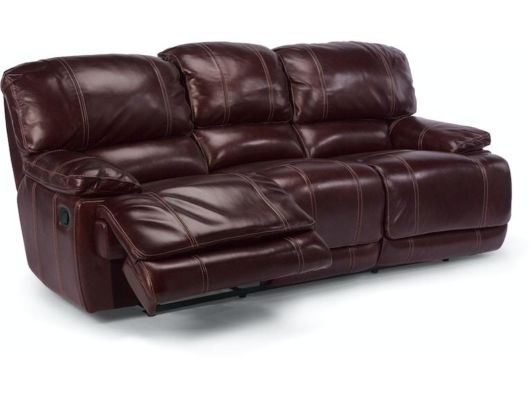 Flexsteel Living Room Power Relining Sofa In Leather 1250