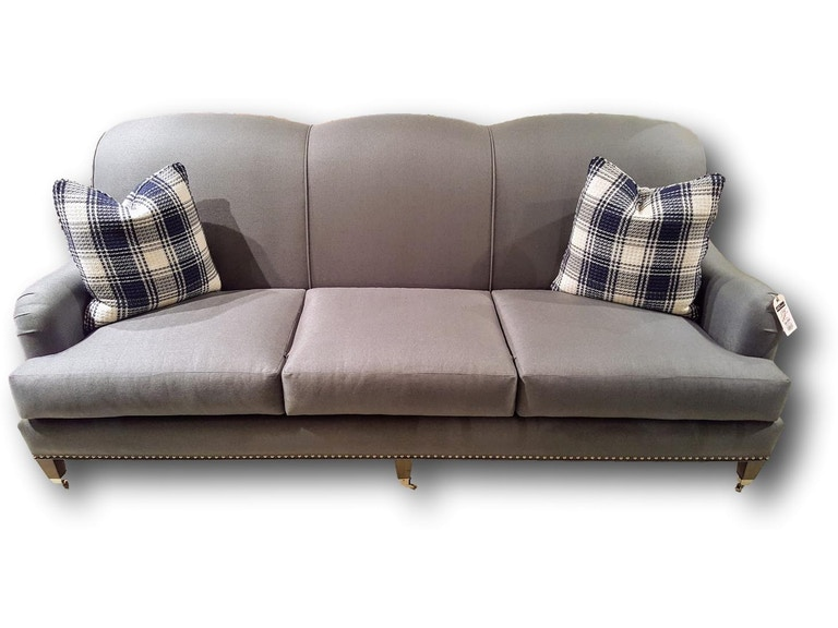 Heritage Furniture Outlet Sofa With Plaid Accent Pillows 1038 Burton James