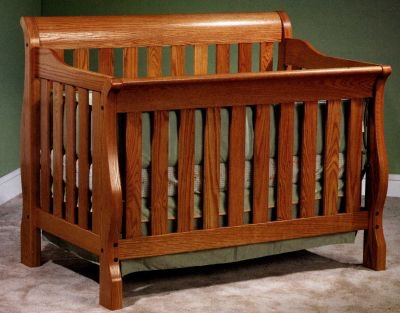 Amish Oak And Cherry Baby Sleigh Crib / Bed (SKU: 26 CSC) Is Available At  Hickory Furniture Mart In Hickory, NC And Nationwide.