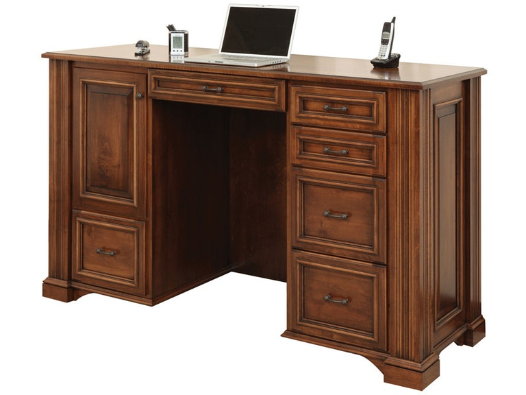 Amish Oak And Cherry Home Office Lincoln Stand Up Desk Sku 14 Lin 523 Is Available At Hickory Furniture Mart In Nc Nationwide