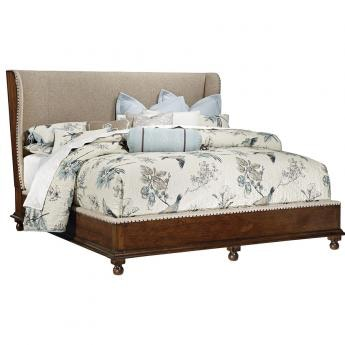 Southern Style Fine Furniture Upholstery Shelter Bed By FFDM From Their  Harbor Springs Collection 1370