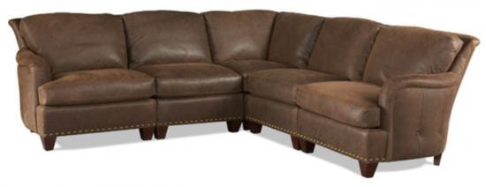 1996. High Country Leather Sectional By Whittemore Sherrill