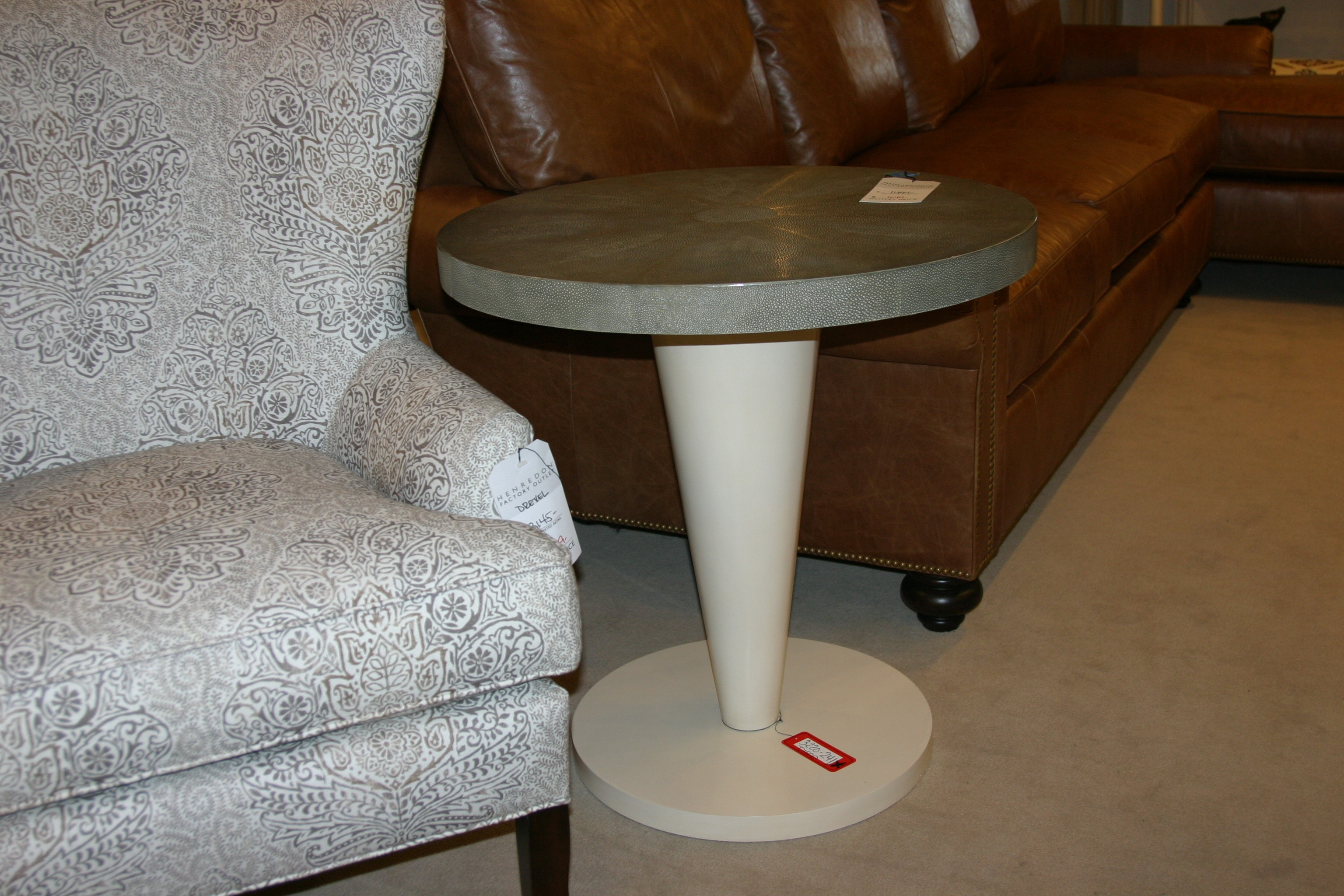Beau 3220 241. Leather Occasional Table By Maitland Smith