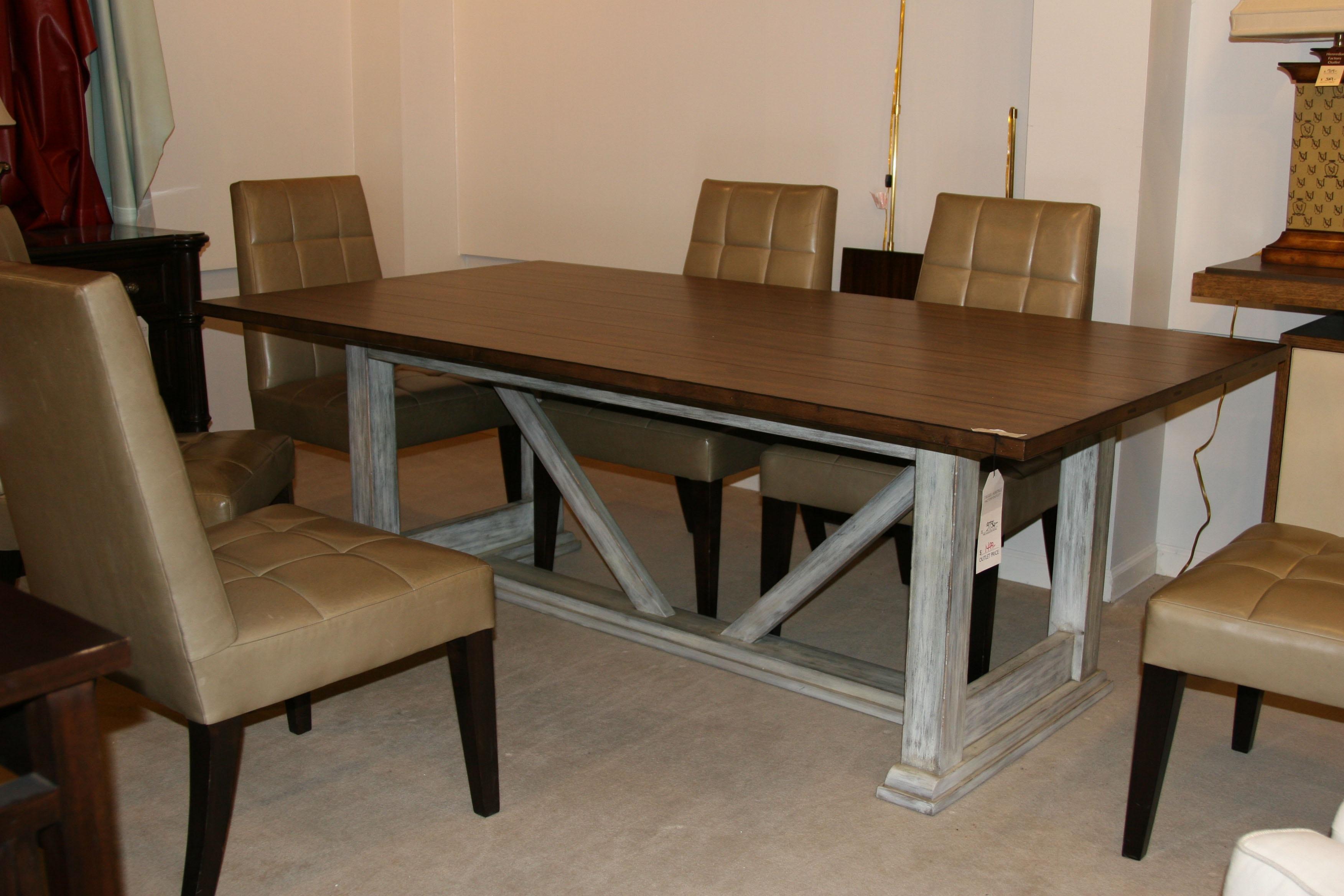 arlington round sienna pedestal dining room table w chestnut finish. 325-660std. trestle dining table arlington round sienna pedestal room w chestnut finish