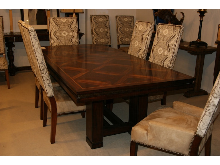 Maitland Smith Factory Outlet Dining Room Table With 2 Leaves SKU 3530 311 Is Available At Hickory Furniture Mart In NC And Nationwide