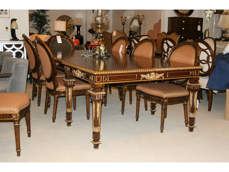 Maitland Smith Factory Outlet Dining Room Mahogany Dining Table With 2 21inc