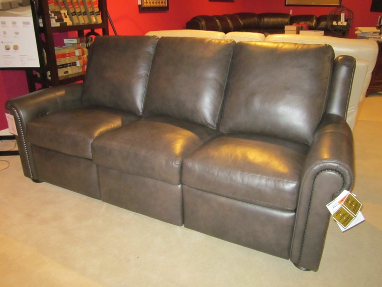 Good S Furniture Outlet Whitaker Motion Leather Sofa By Bradington Young 920 90plgm Clearance