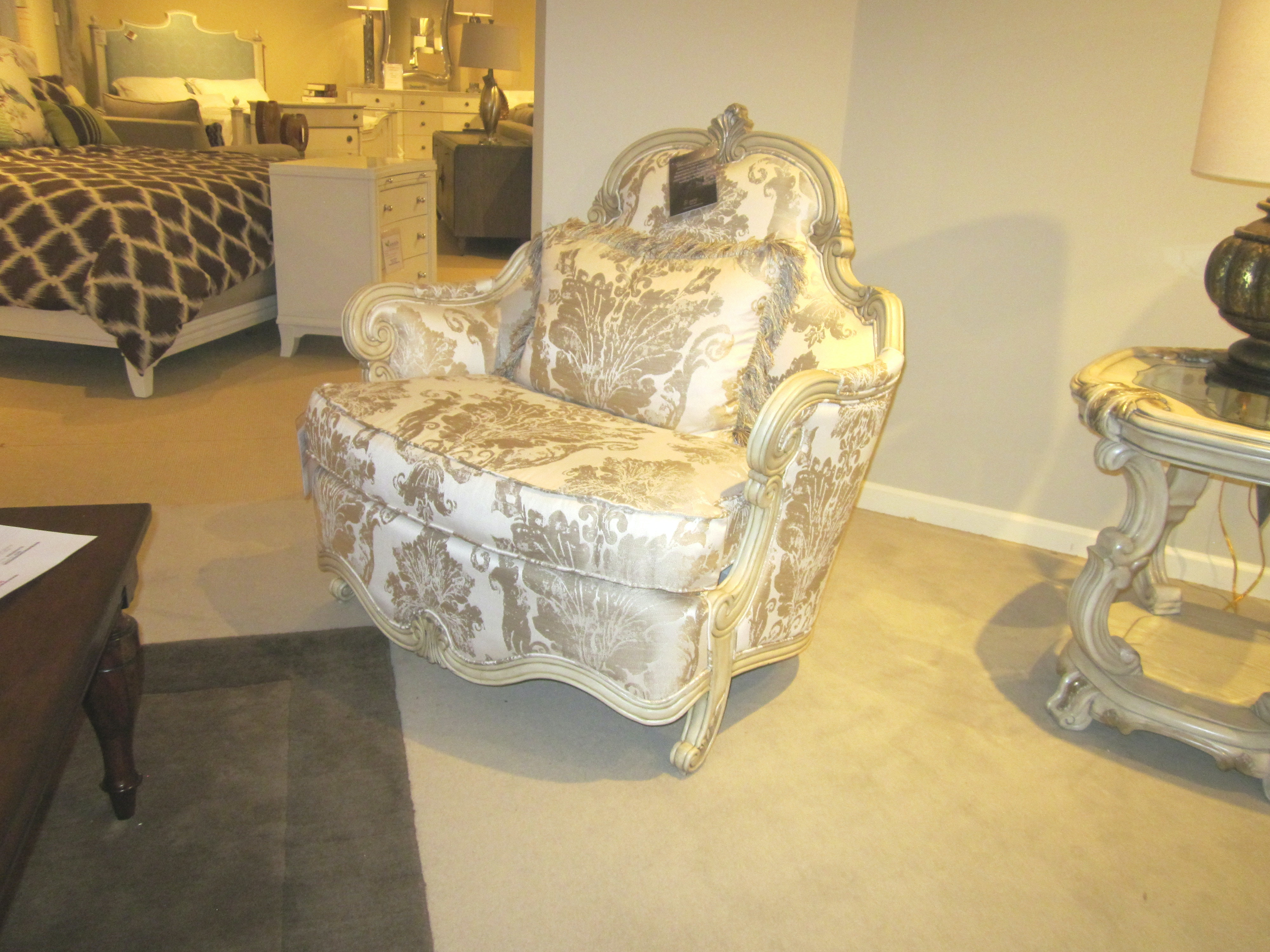 Charmant Goodu0027s Furniture Outlet Plantine De Royale Chair And A Half By Aico  Furniture 09838 CHPGN