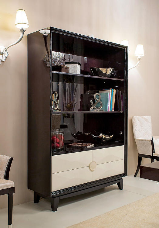 David Michael Furniture Solid Walnut Bookcase TM 1500