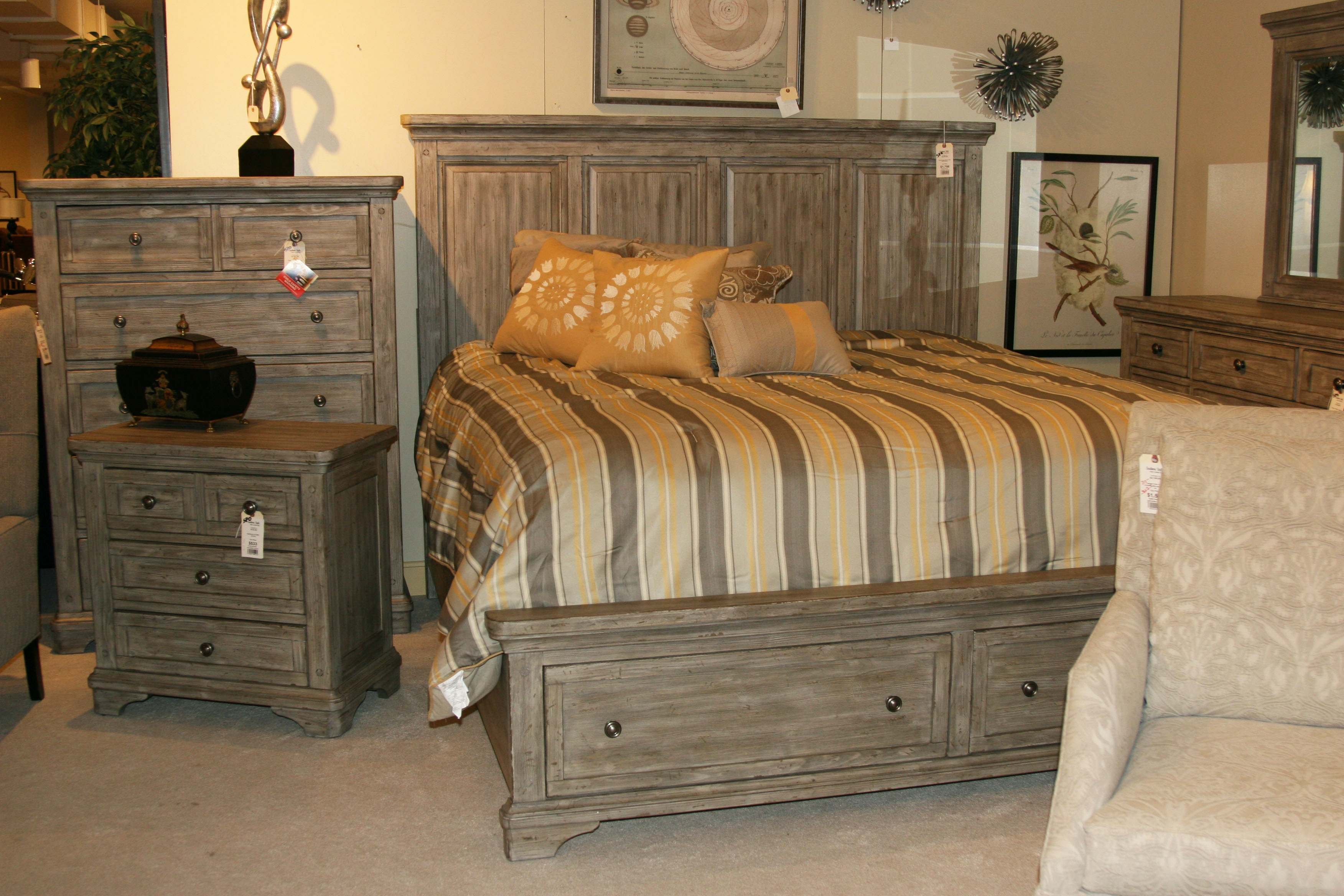 Southern Style Fine Furniture Liberty King Storage Bed 727 BR KSB