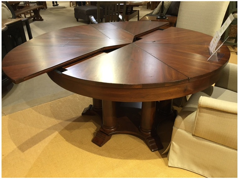 Amish Oak And Cherry Dining Room 60 To 80 Inch Solid Wood Pie Table By Abner Henry SKU 201 AH Is Available At Hickory Furniture Mart In NC