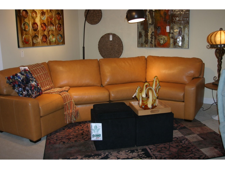 American Leather by Reflections Leather Sectional by America Leather AL-Sectional