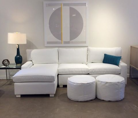 Exceptional Mitchell Gold + Bob Williams Factory Outlet 2pc Sectional With Full Sleeper  In Essential White