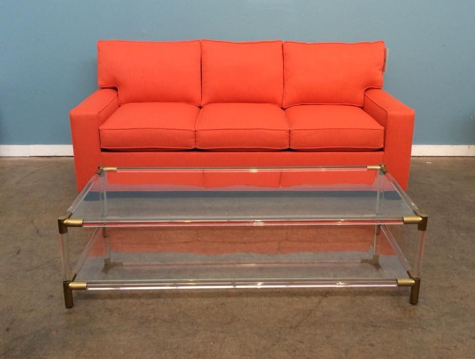 Mitchell Gold + Bob Williams Factory Outlet Lux Queen Sleeper Sofa In  Sundance Orange Alex