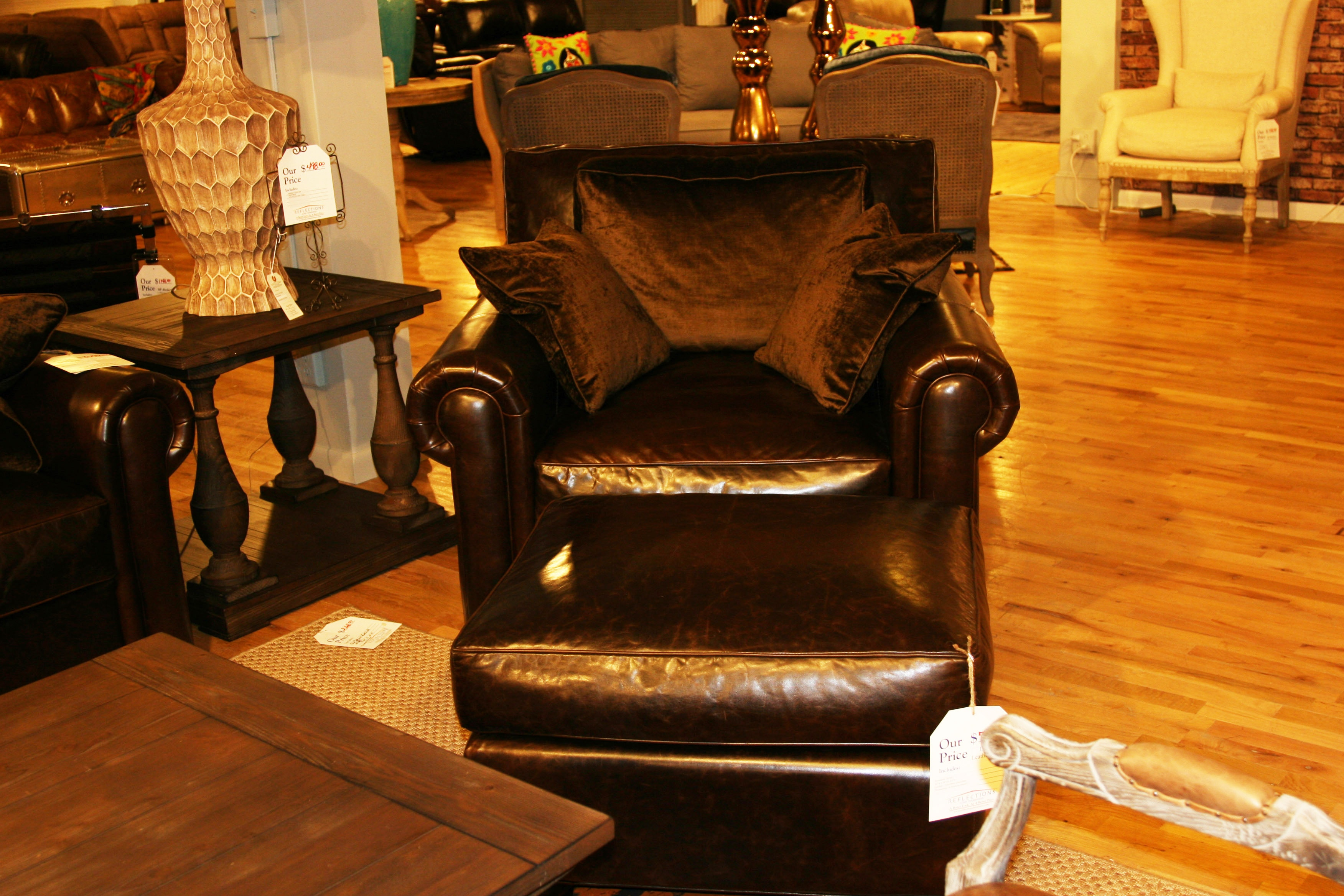 RF Modern By Reflections Living Room Landmark Leather Chair By Reflections  (SKU: Annabelle Chair) Is Available At Hickory Furniture Mart In Hickory,  ...