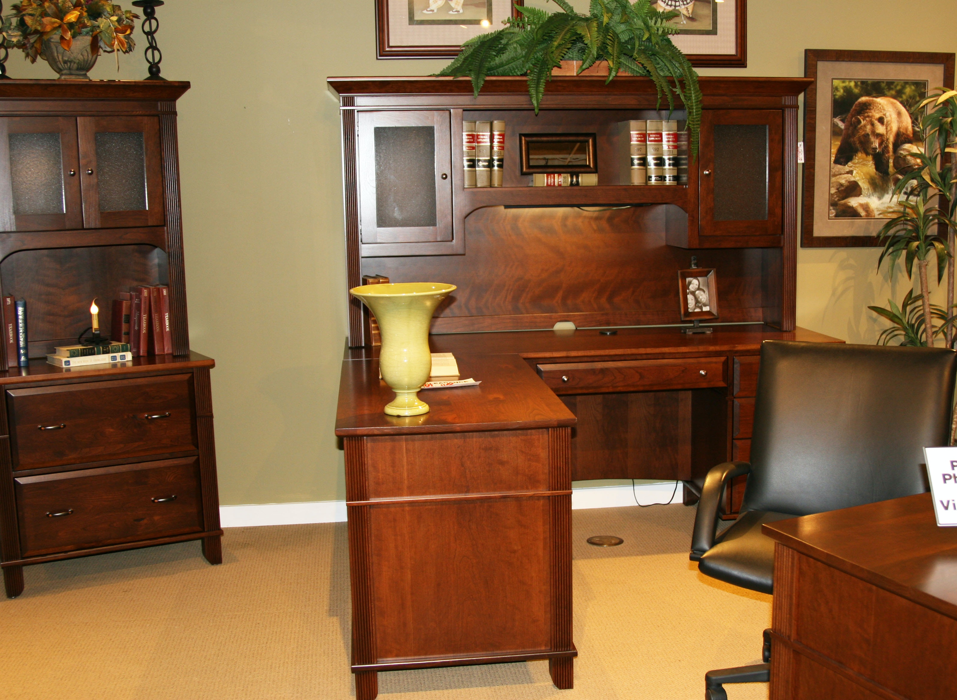 Amish Oak And Cherry American Made Of Rustic Cherry Arlington Executive  Office