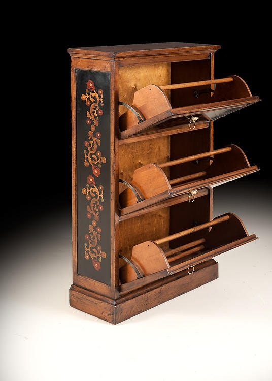 David Michael Furniture Bedroom Shoe Rack With Hand Painted Decorations  BM 840PS | Hickory Furniture Mart | Hickory, NC