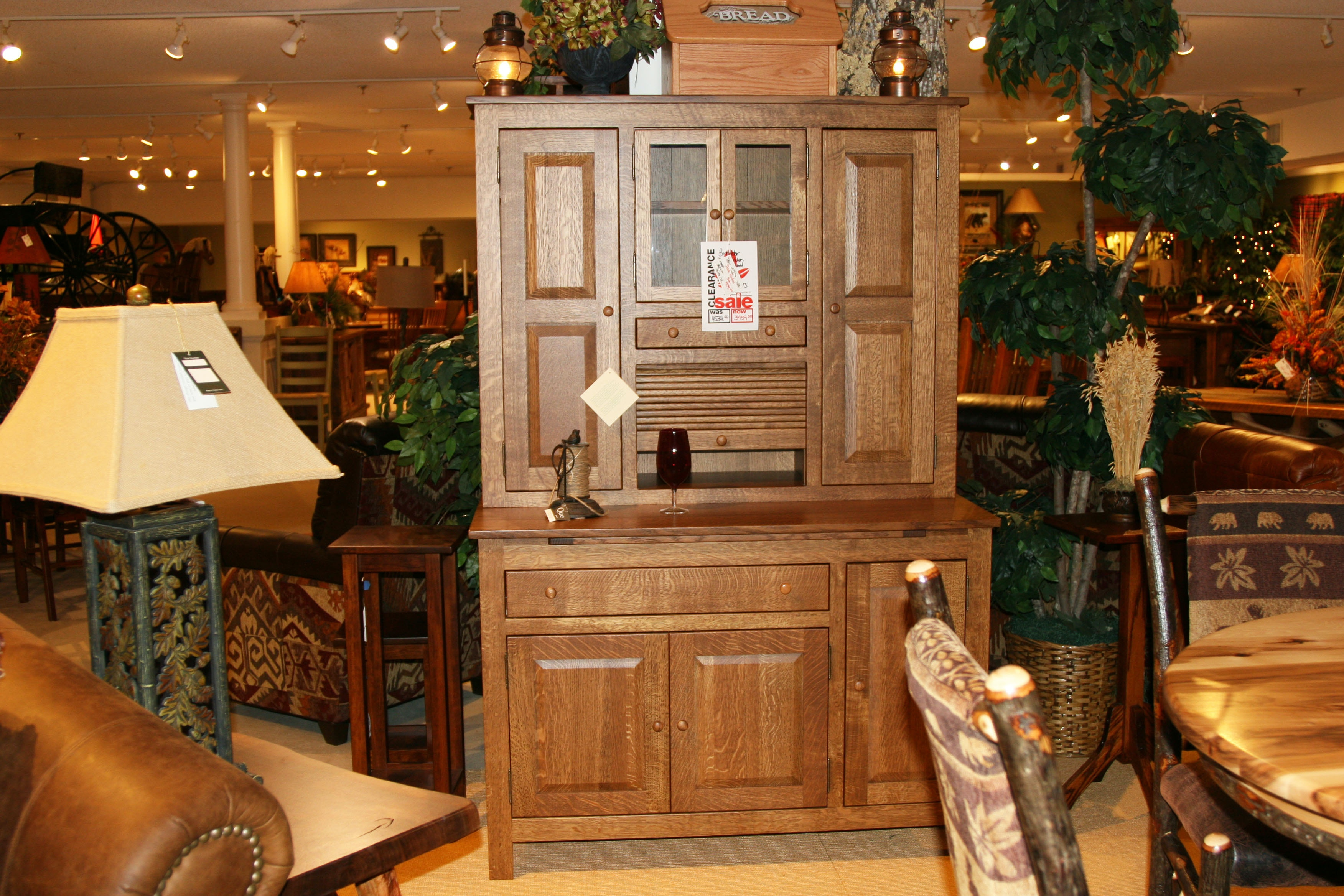 Superbe Amish Oak And Cherry Made In America Dutch Kitchen Cabinet (SKU:  Borkholder) Is Available At Hickory Furniture Mart In Hickory, NC And  Nationwide.