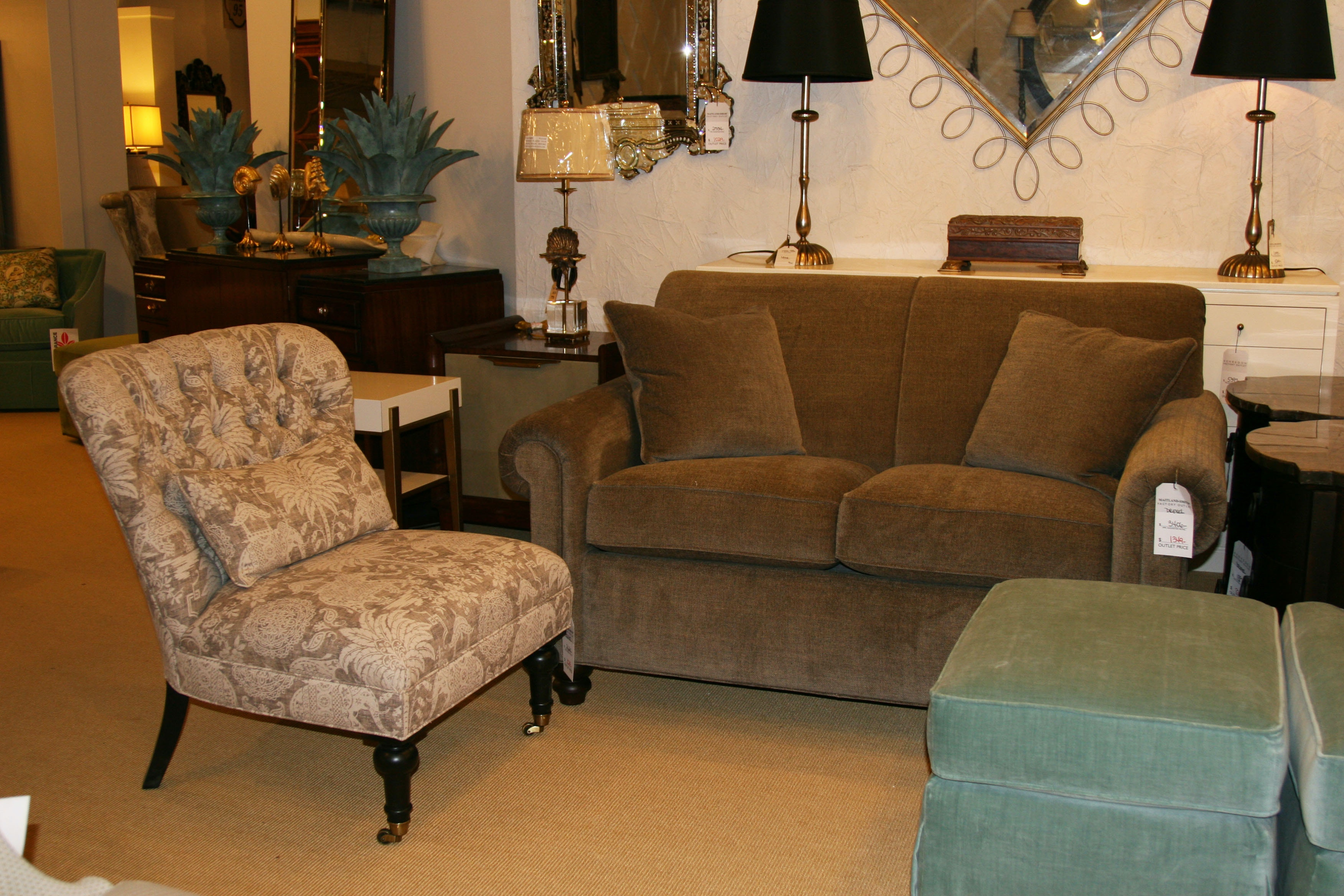 Drexel Heritage Factory Outlet Loveseat By Drexel Heritage Furniture D69 LS Part 48