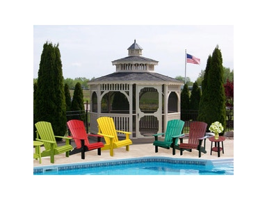 Outdoor Furniture by Amish Oak and Cherry Chairs By Vinyl Gazebo Deluxe Adirondack Furniture Made In Usa 3981