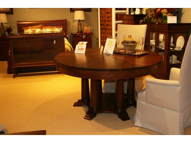 Amish Oak and Cherry 60 to 80 inch rustic cherry round table EdgewoodDining Room Tables   Furniture   Hickory Furniture Mart in Hickory  NC. Arlington Round Sienna Pedestal Dining Room Table W Chestnut Finish. Home Design Ideas