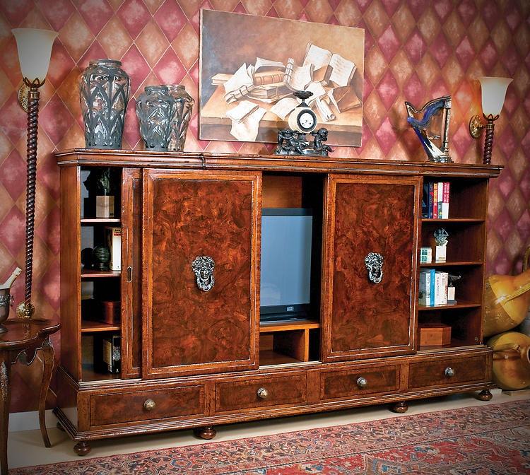 Charming David Michael Furniture Solid Walnut Media Center B 6