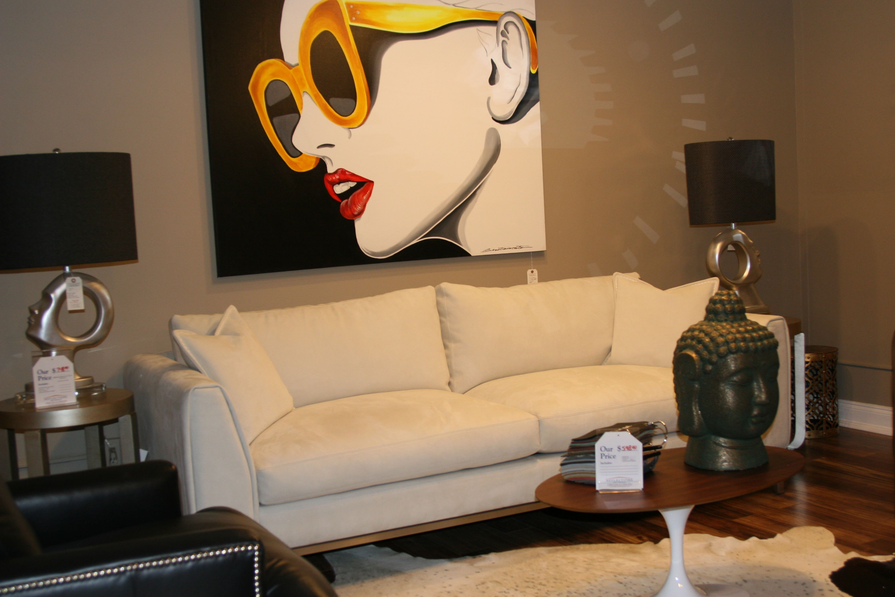 Eleanor Rigby By Reflections Leather Sofa By Eleanor Rigby Leather Co.  Fairfax 30