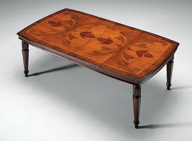 David Michael Furniture Solid Walnut With Walnut And Cherry Inlays Dining  Table FM 684