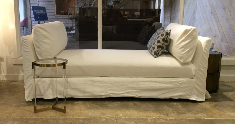 Mitchell Gold + Bob Williams Factory Outlet Slipcovered Lounge In Bull  Denim~White. 80