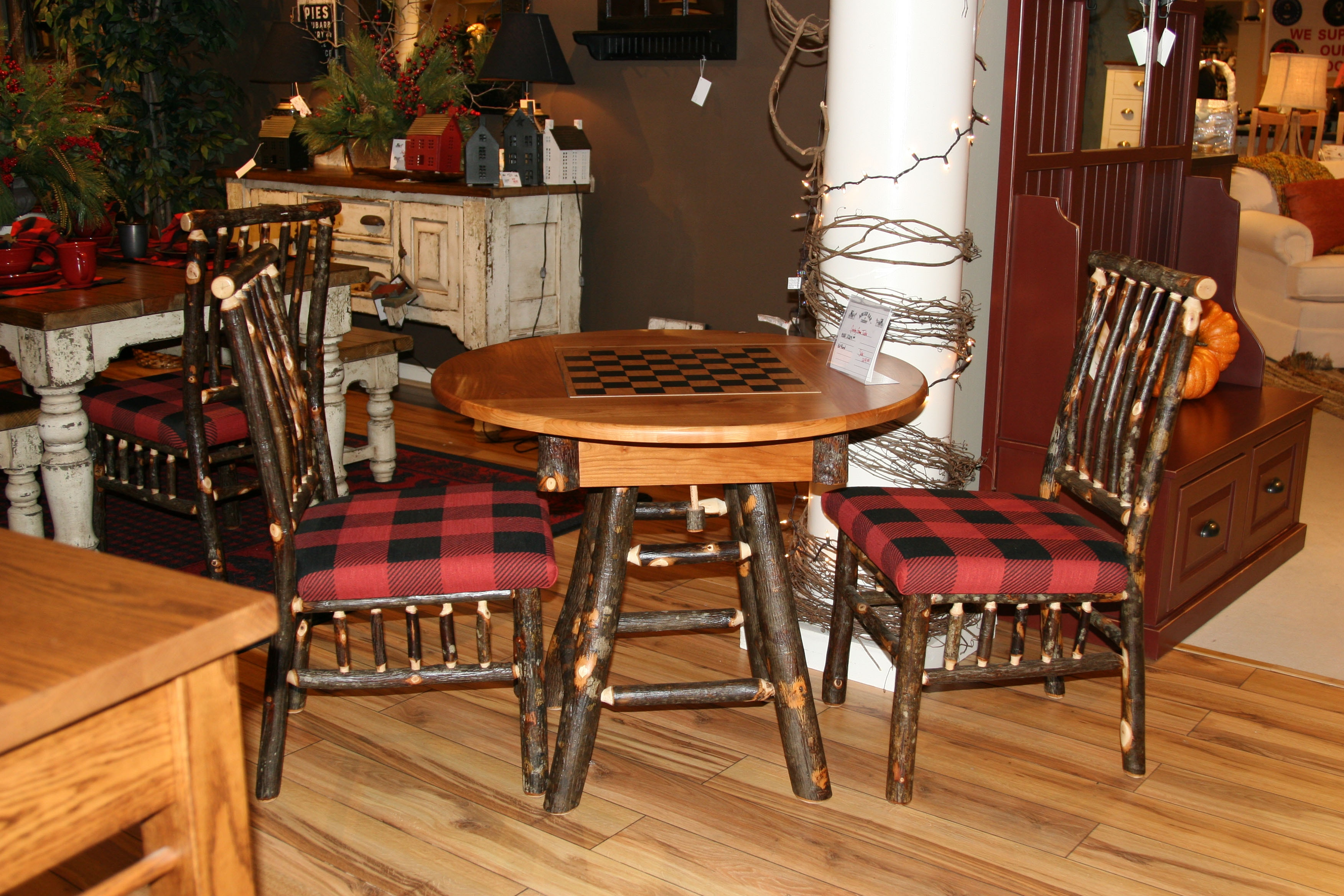 amish oak and cherry dining room country 36 inch round table game