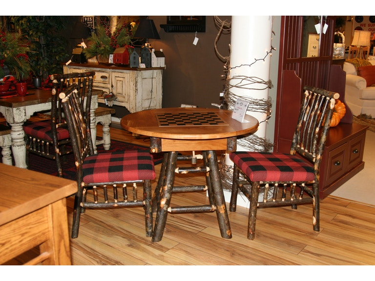Amish Oak And Cherry Dining Room Country 36 Inch Round Table SKU Game Is Available At Hickory Furniture Mart In NC Nationwide