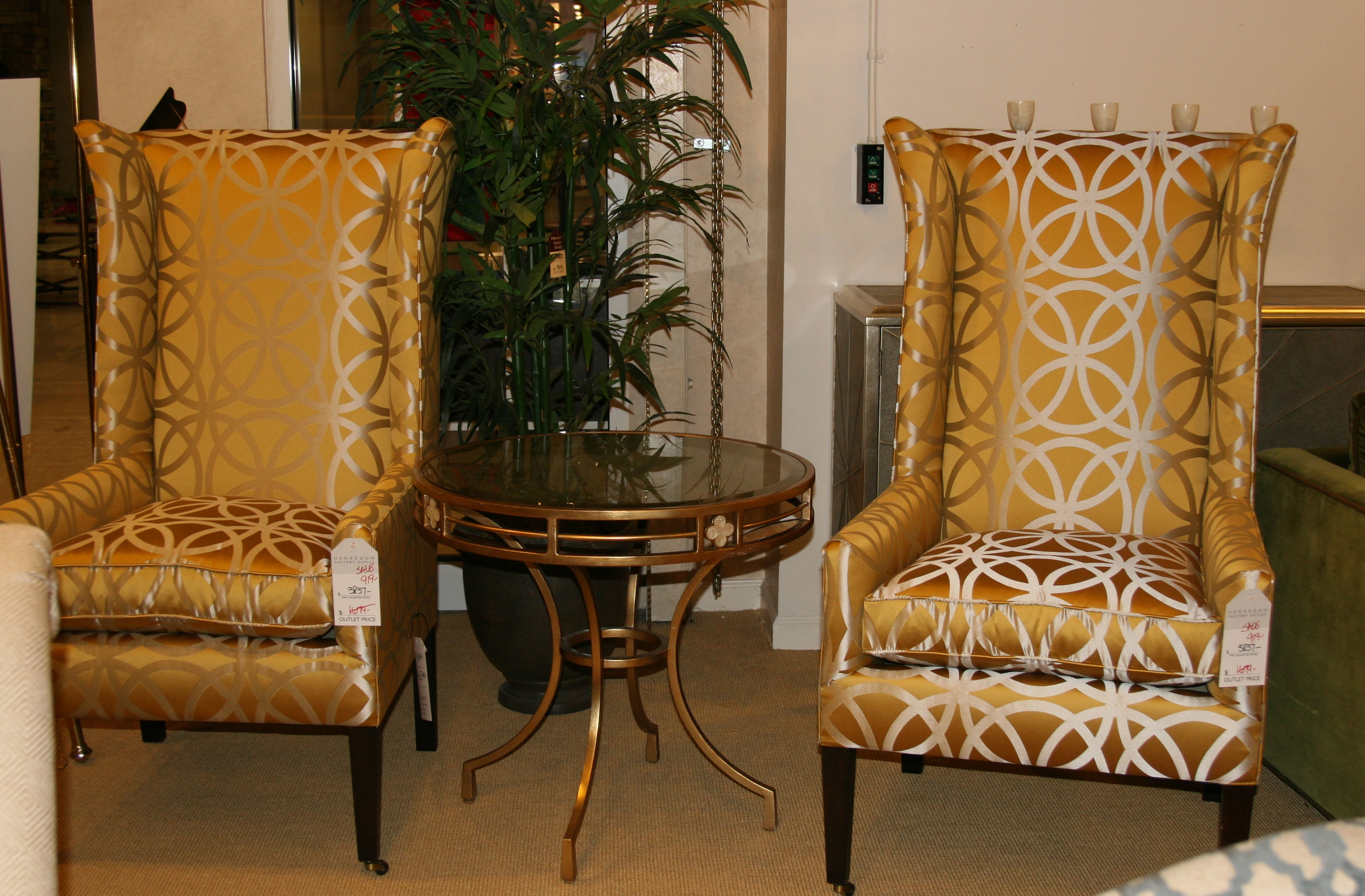 h1216 tall wing back chair