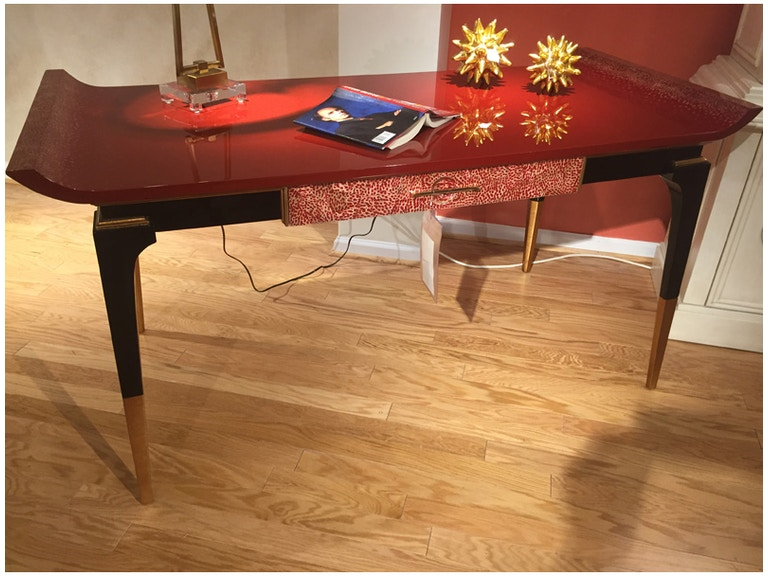 Hickory Park Furniture Outlet Home Office Jonathan Charles Modern Indochine Emperor Red Desk SKU 495579 Is Available At Mart In