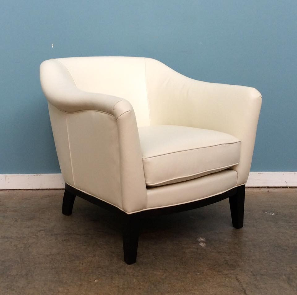 Mitchell Gold + Bob Williams Factory Outlet Larkin Leather Chair In  Cordell Dove.