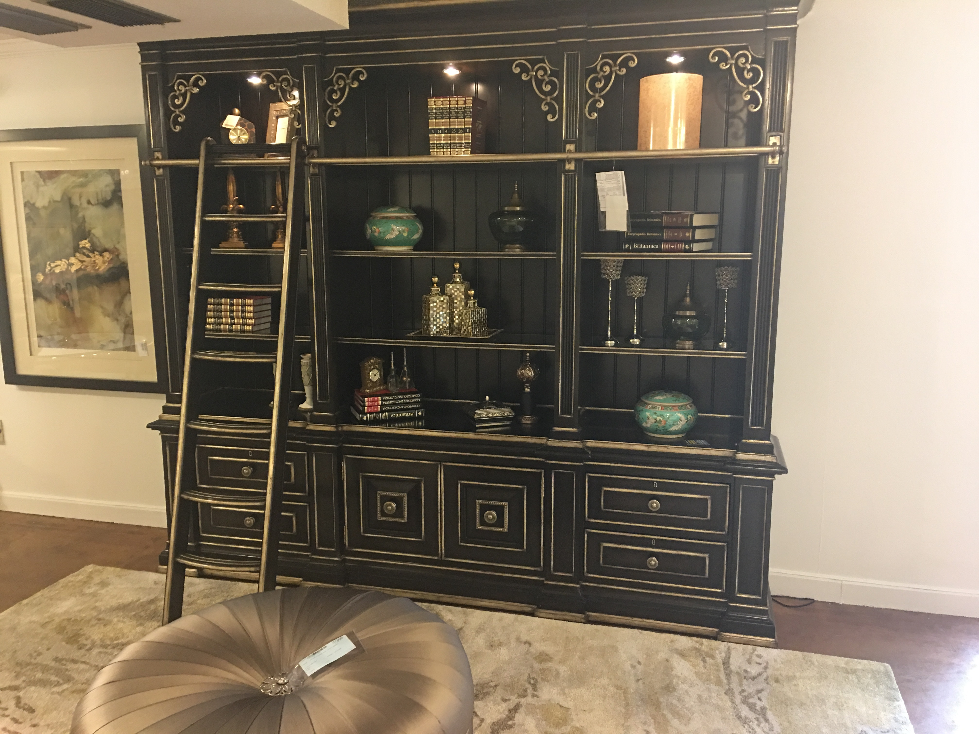 Hickory Park Furniture Outlet Martinique Library Entertainment Unit By  Marge Carson MTQ27 Part 36