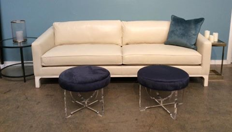 Mitchell Gold + Bob Williams Factory Outlet Nora 95 Leather Sofa In  Highland Ivory.