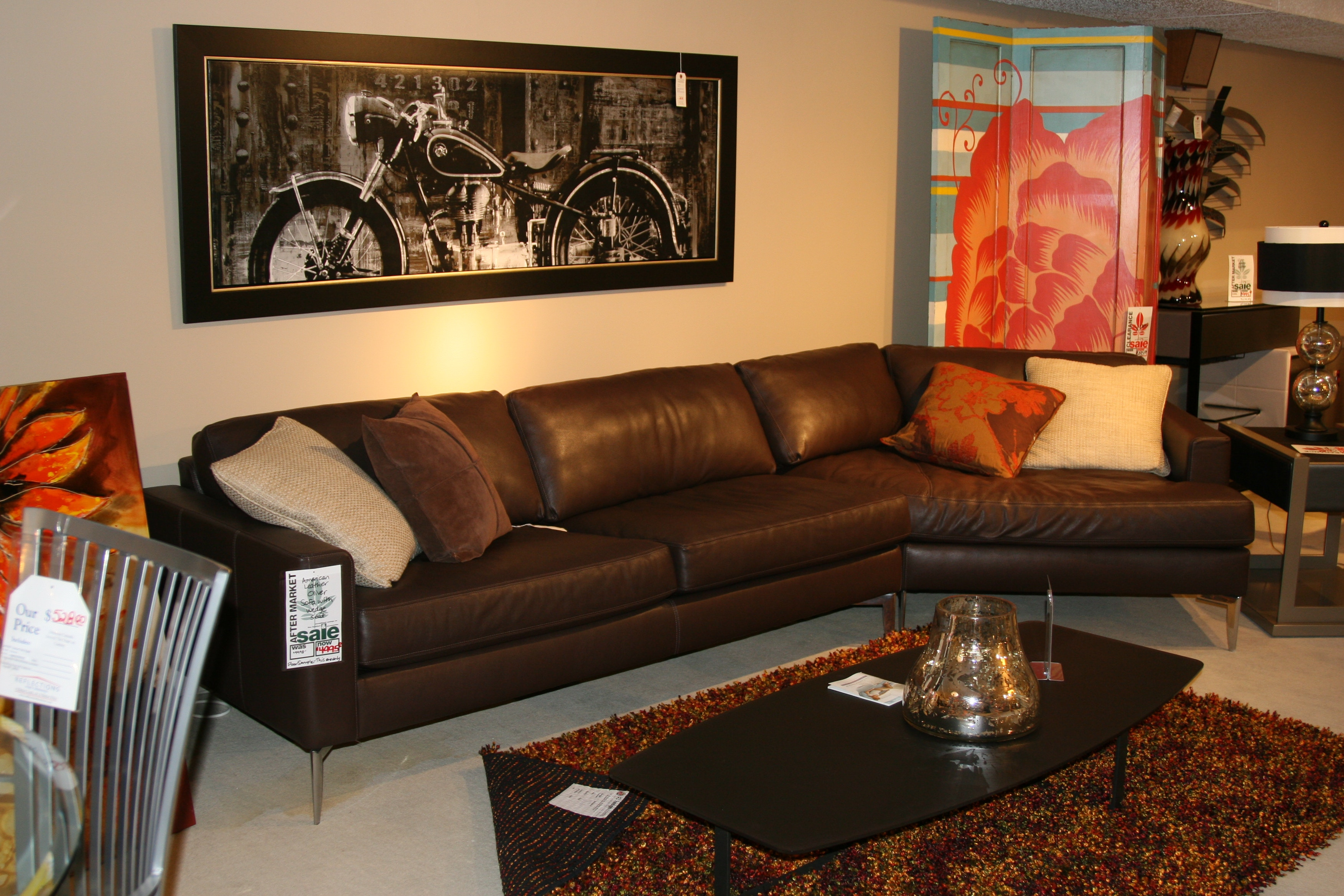 Reflections Furniture Outlet American Leather Oliver Sofa With Wedge Seat  OVR 502 RA